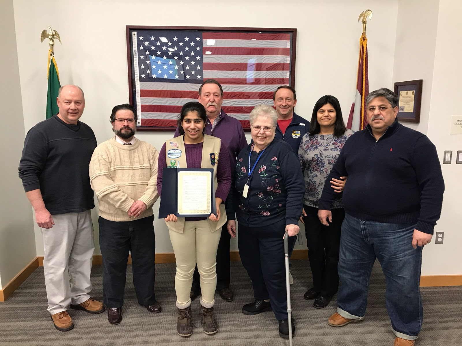 Zenia Masani (02G) receives Girl Scouts GOLD Award!